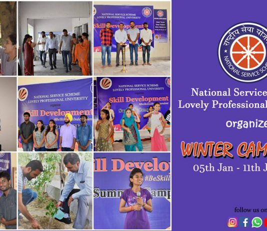 Glimpse of the Winter Camp 2018 of LPU-NSS