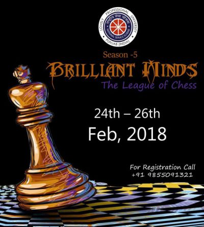 "BRILLIANT MINDS-the league of chess"" SEASON-5"