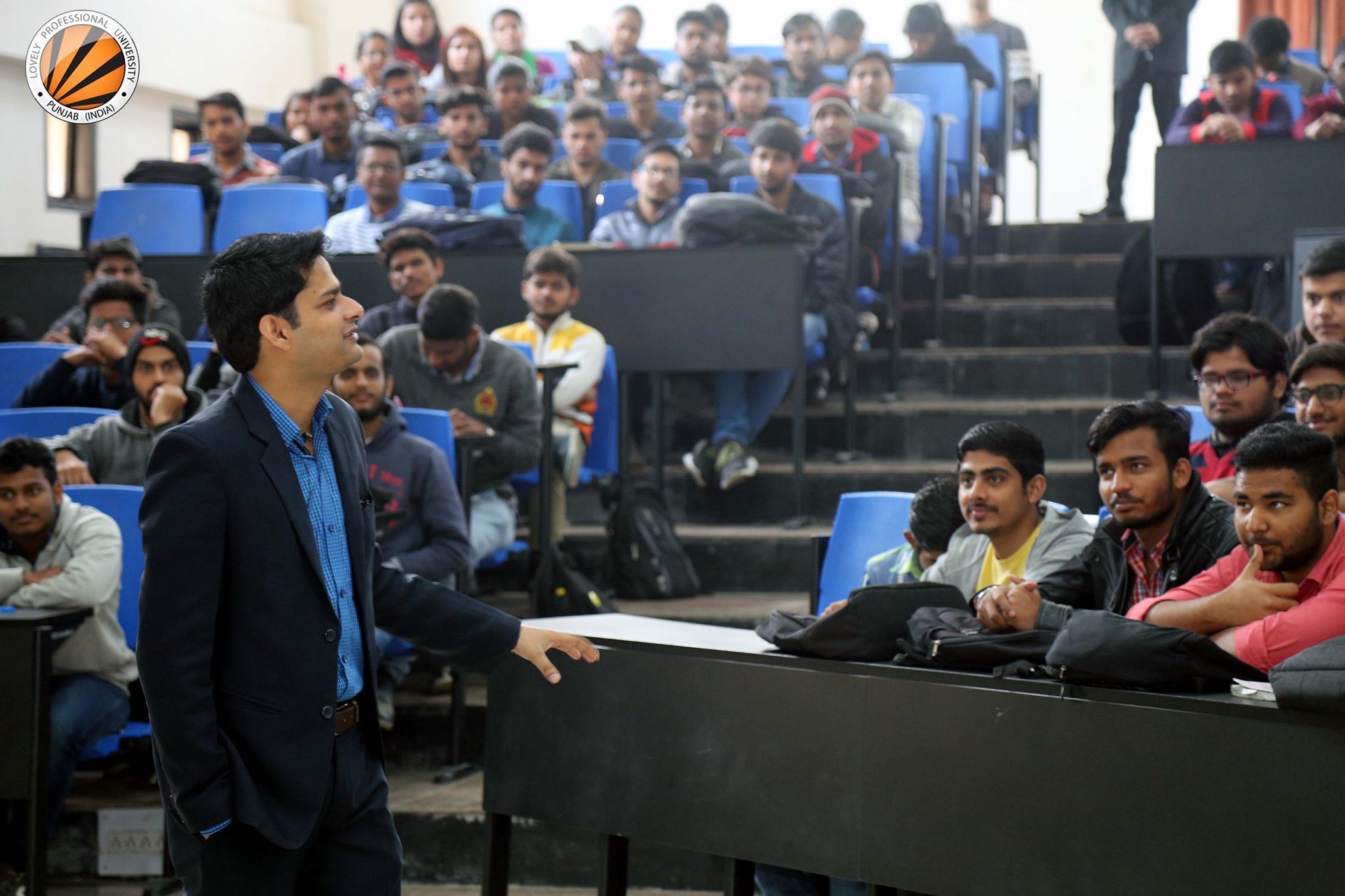 LPU Alumnus Rahul Tyagi interacted with LPU Students