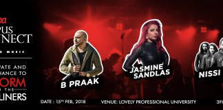Jasmine Sandlas, B Praak and Nissi Band will perform Live at LPU