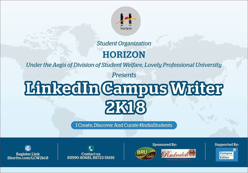 LinkedIn Campus Writer 2018