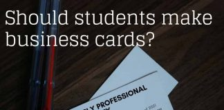 Should students make business cards