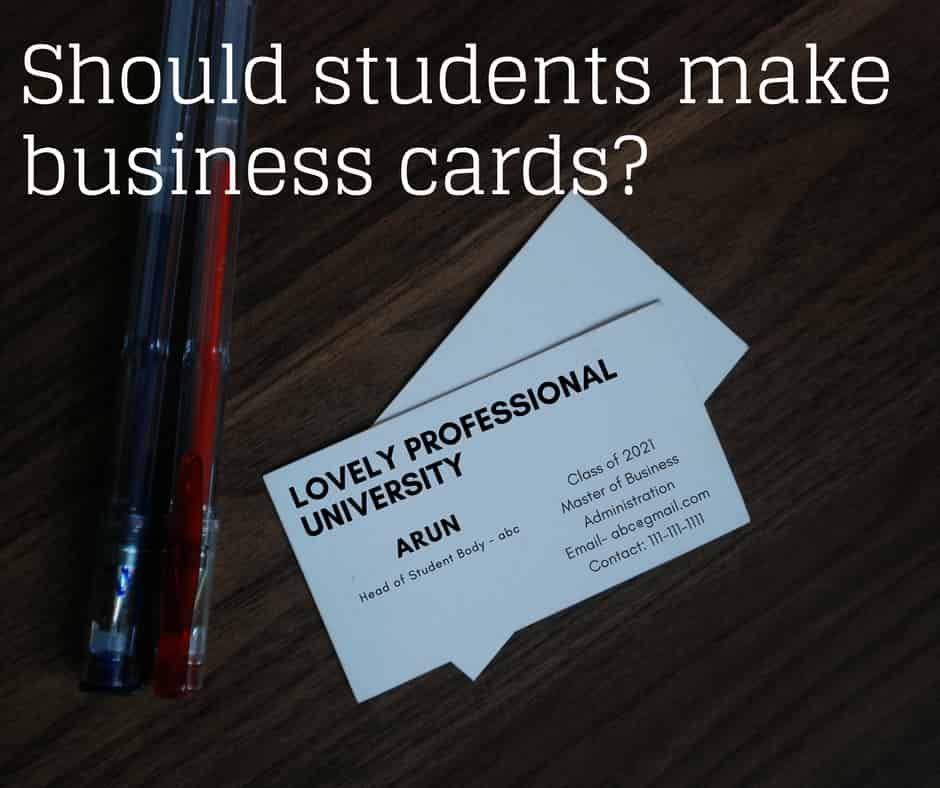Why Make Your Business Cards When You\'re Still a Grad Student ...
