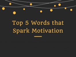 Top 5 Words that Spark Motivation