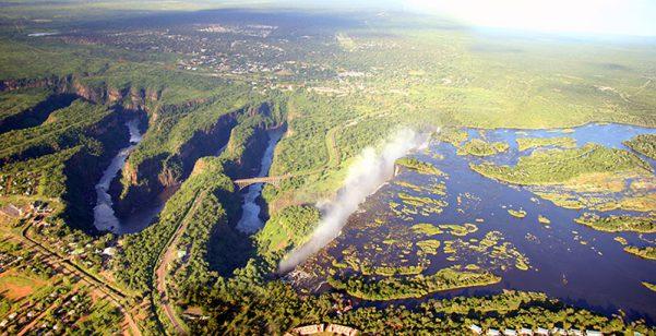 Zambezi River Gorge - international borders around the world