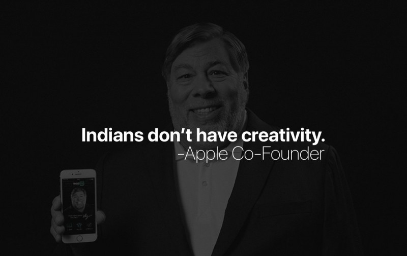 Indians lack Creativity - Apple Co Founder