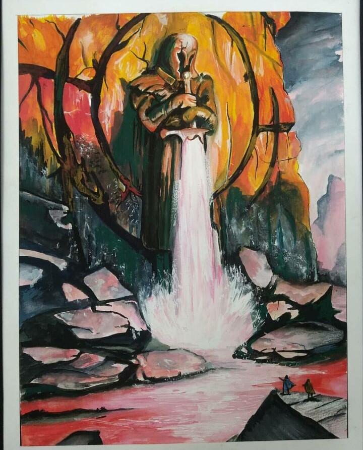 Painting by Kamaldeep - LPU Fine Arts Student (8)