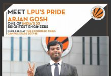LPU's 3rd year Mechanical Engineering student among Economic Times Campus Stars 2017-18