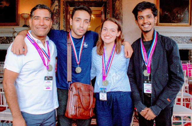Sayan Guchait with other students at Hult Prize, Impact Retreat, UK