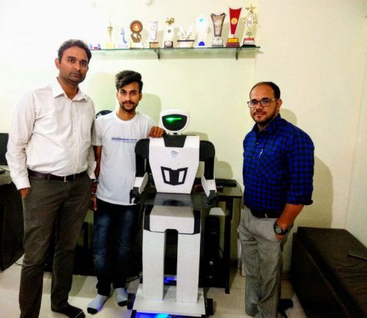 LPU Student Nehul Patel Builds a Low Cost Humanoid Robot