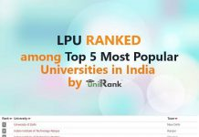 LPU Ranked Among Top 5 Most Popular Universities in India