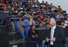 Castulus Kolo from Macromedia University Germany Interacted with LPU Students