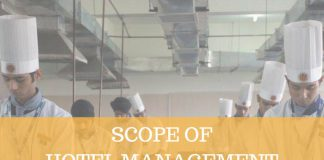 SCOPE OF HOTEL MANAGEMENT AND TOURISM
