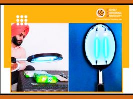 LPU Student Innovated a UV Light Racket for Sanitization
