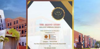 LPU conferred as the India's Most Admirable Brand 2020 By The Brand Story