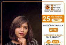 Student Organization SPADE is inviting Sharmishta Saha aka DJ Mishti for a live interaction